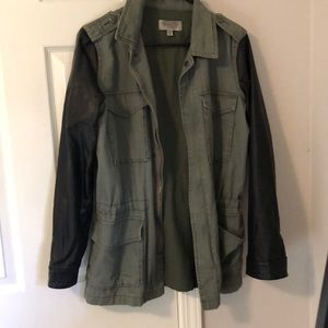 Urban Outfitters Jacket with Pleather Sleeves